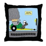 Turtle Dragster Throw Pillow