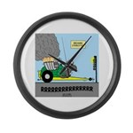 Turtle Dragster Large Wall Clock