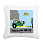 Turtle Dragster Square Canvas Pillow