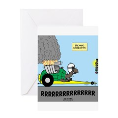 Turtle Dragster Greeting Card