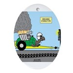 Turtle Dragster Ornament (Oval)