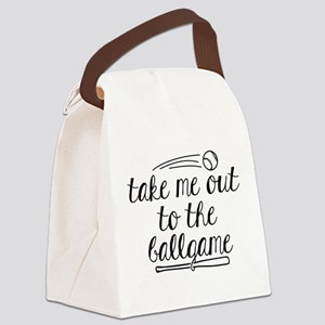 Take Me Out To The Ballgame Canvas Lunch Bag
