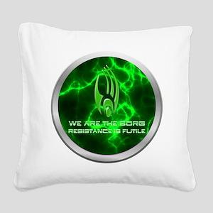 Borg Emblem Square Canvas Pillow