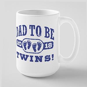 Dad To Be Twins 2018 15 oz Ceramic Large Mug