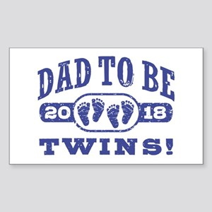 Dad To Be Twins 2018 Sticker (Rectangle)