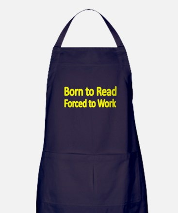 BORN TO READ Apron (dark)