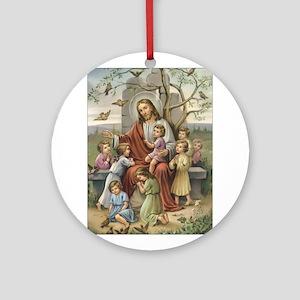 Jesus and Children Ornament (Round)
