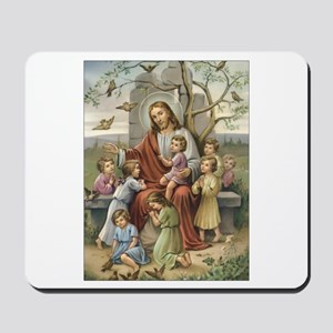Jesus and Children Mousepad