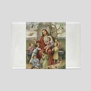 Jesus and Children Rectangle Magnet