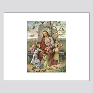 Jesus and Children Small Poster