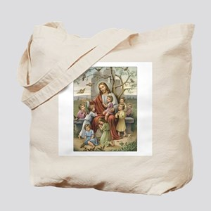 Jesus and Children Tote Bag