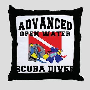 Advanced SCUBA Diver Throw Pillow