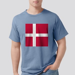 Danish Flag Mens Comfort Colors Shirt
