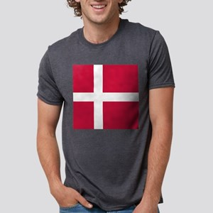 Danish Flag Mens Tri-blend T-Shirt