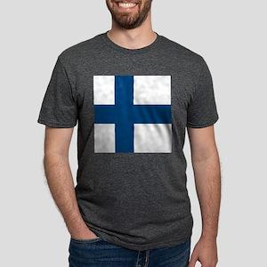 Finnish Flag Mens Tri-blend T-Shirt