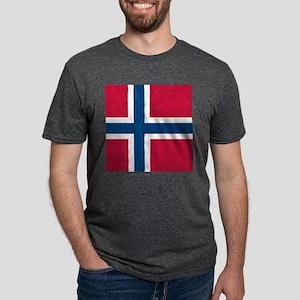 Norwegian Flag Mens Tri-blend T-Shirt