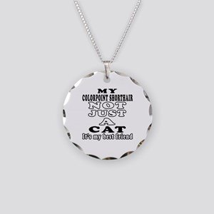 Colorpoint Shorthair Cat Designs Necklace Circle C