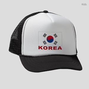 south-korea_b Kids Trucker hat