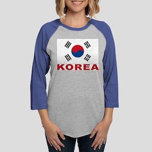 south-korea_b Womens Baseball Tee