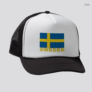 sweden_b Kids Trucker hat