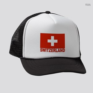 swiss-flag Kids Trucker hat