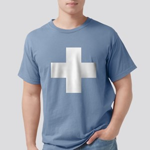 swiss-flag Mens Comfort Colors Shirt