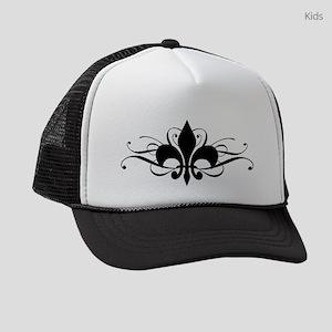 Fleur De Lis Swirls Kids Trucker hat
