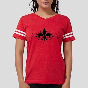 Fleur De Lis Swirls Womens Football Shirt