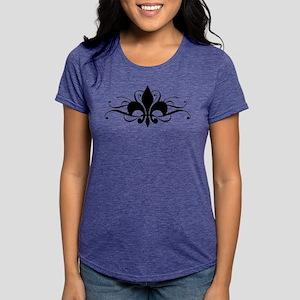 Fleur De Lis Swirls Womens Tri-blend T-Shirt