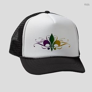 fleur-de-lis-swirls_color Kids Trucker hat