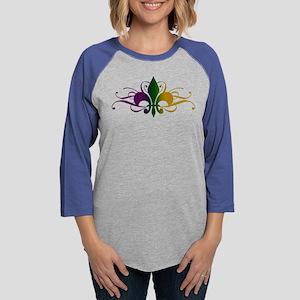 fleur-de-lis-swirls_color Womens Baseball Tee