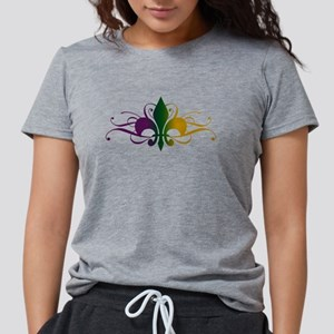 fleur-de-lis-swirls_color Womens Tri-blend T-S