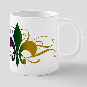 fleur-de-lis-swirls_color 20 oz Ceramic Mega M