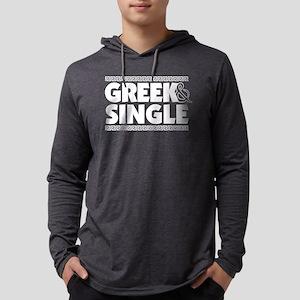 GREEK-AND-SINGLE Mens Hooded Shirt