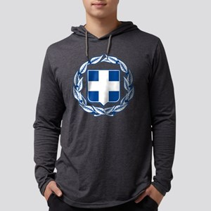 greek-crest-blue Mens Hooded Shirt