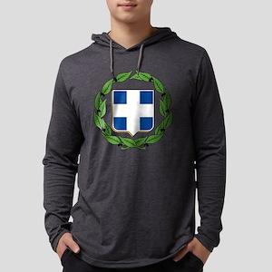 greek-crest Mens Hooded Shirt