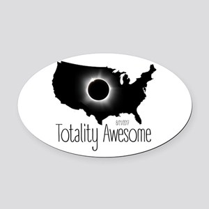 Totality Awesome Oval Car Magnet