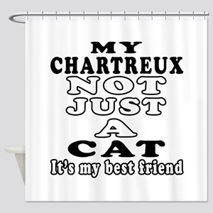 Chartreux Cat Designs Shower Curtain