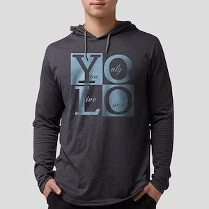 YOLO Square Mens Hooded Shirt