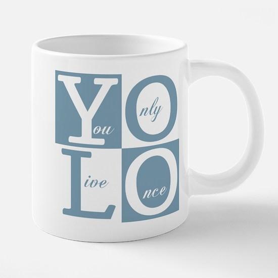 YOLO Square 20 oz Ceramic Mega Mug