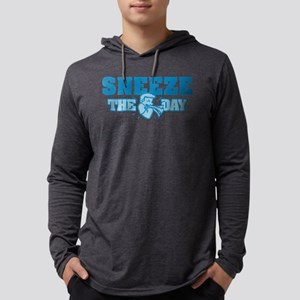 Sneeze The Day Mens Hooded Shirt
