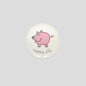 Happy Pig Mini Button