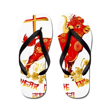 Year Of The Ox-dates Flip Flops