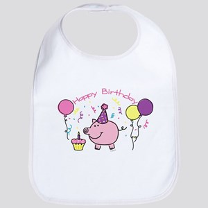 Girl Happy Birthday Bib