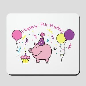 Girl Happy Birthday Mousepad