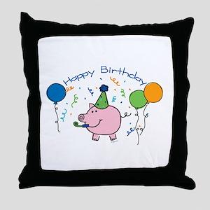 Boy Happy Birthday Throw Pillow