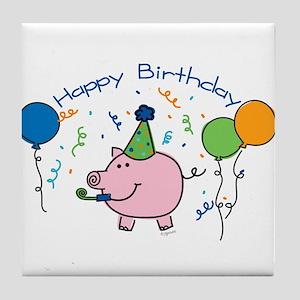 Boy Happy Birthday Tile Coaster