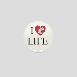 I LOVE LIFE baby heart Mini Button