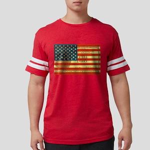 100-dollar-FLAG Mens Football Shirt