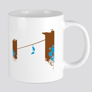 shoefiti-brownaqua 20 oz Ceramic Mega Mug